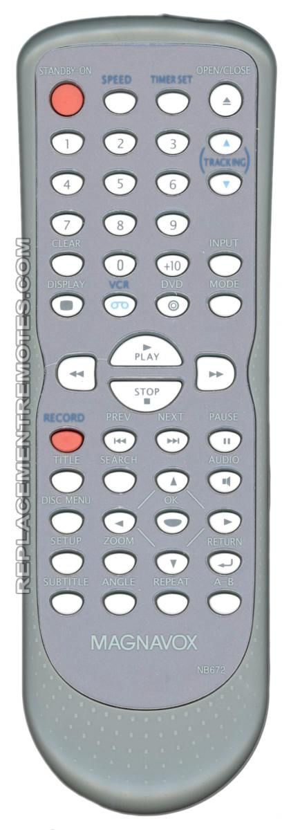 Magnavox NB672UD DVD/VCR Combo Player Remote Control
