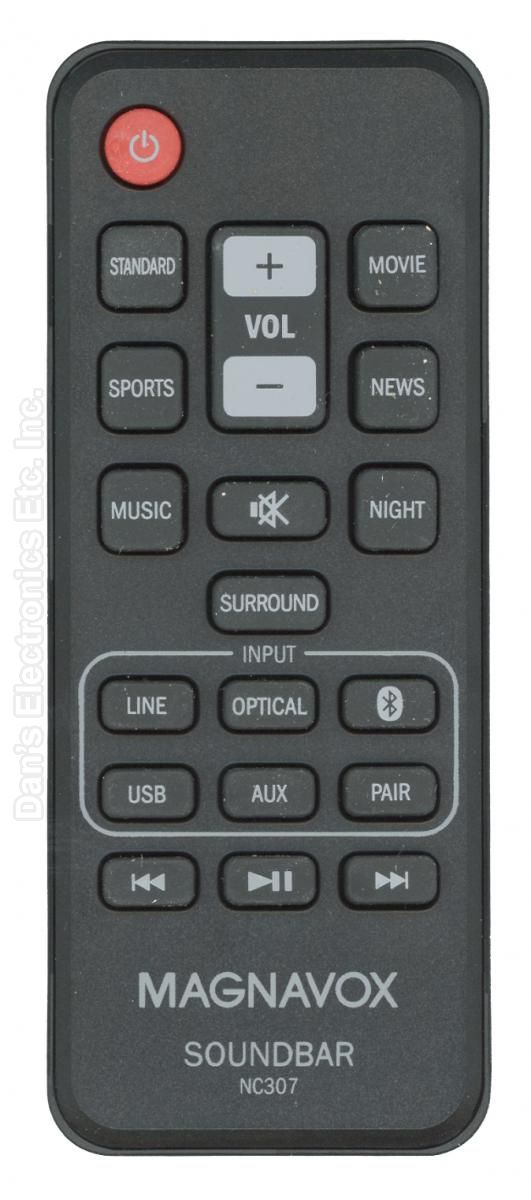 Magnavox NC307UH Sound Bar System Remote Control