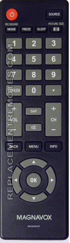 Magnavox NH309UP TV Remote Control