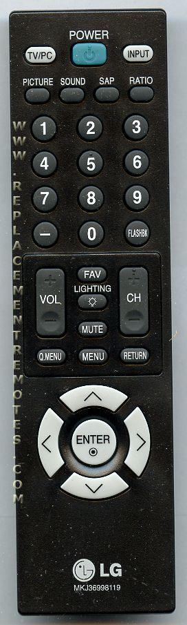 LG mkj36998119 Remote Control