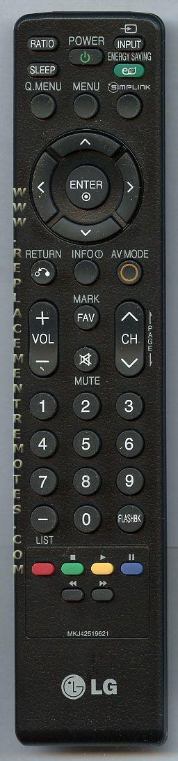 LG MKJ42519621 TV Remote Control