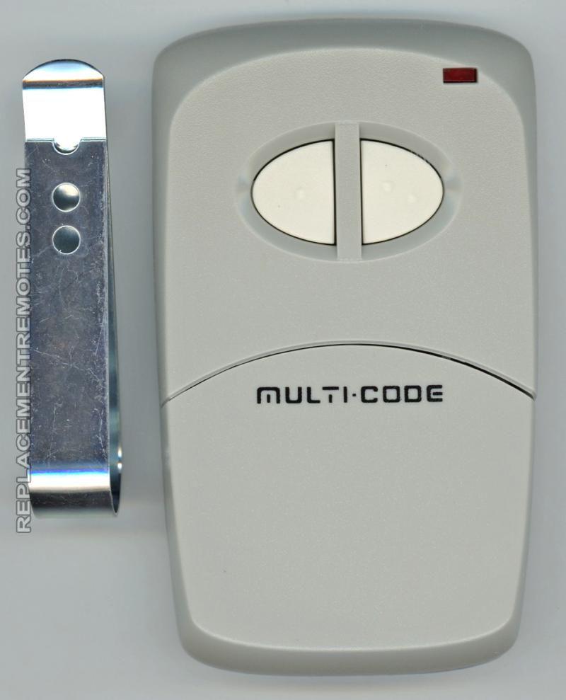 Multicode 4120 garage door opener two button remote Garage Door Opener