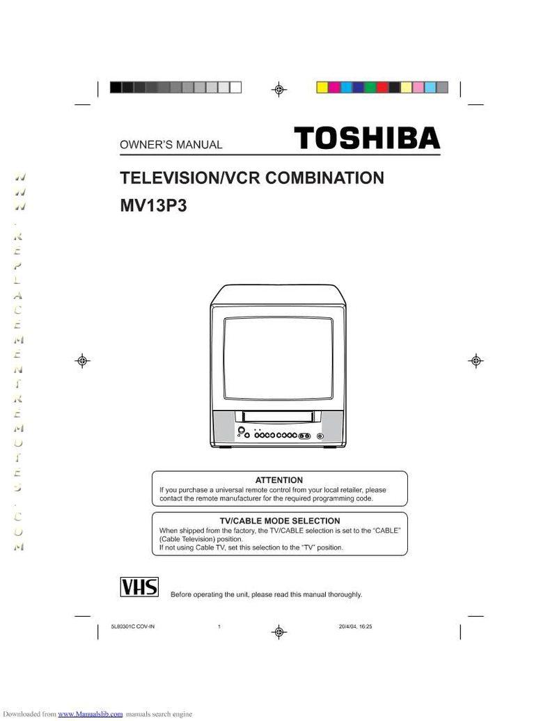 Buy TOSHIBA MV13P3TVOM MV13P3/TV Operating Manual