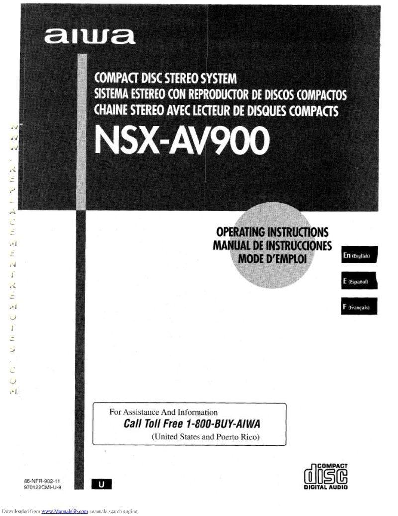 AIWA RXN757UOM Operating Manual