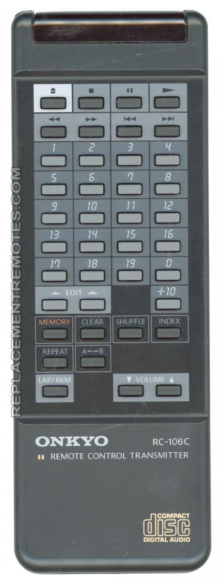 ONKYO RC106C CD Player Remote Control