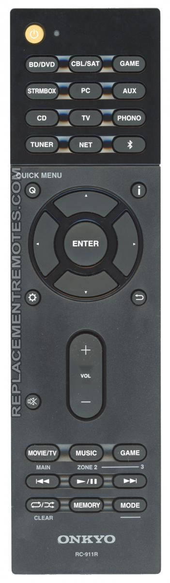 ONKYO RC911R Audio/Video Receiver Remote Control