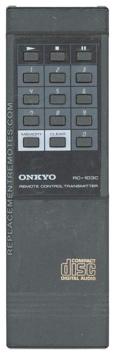 ONKYO RC103C CD Player Remote Control