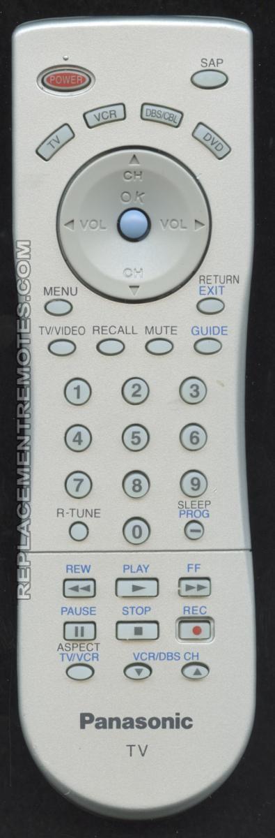 Panasonic EUR7613ZE0 Remote Control