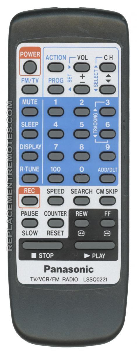 buy quasar lssq0223 tv vcr combo remote control rh replacementremotes com Quasar TV Television Quasar TV VCR Combo Recorder