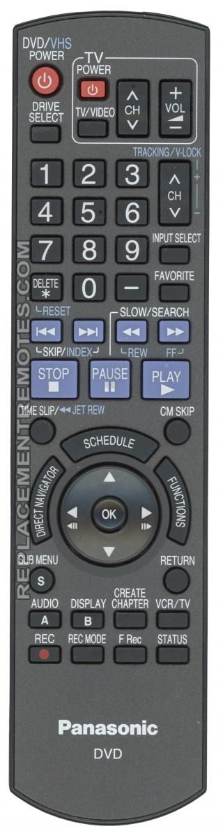 Buy Panasonic N2QAYB000197 DVD Recorder (DVDR) Remote Control