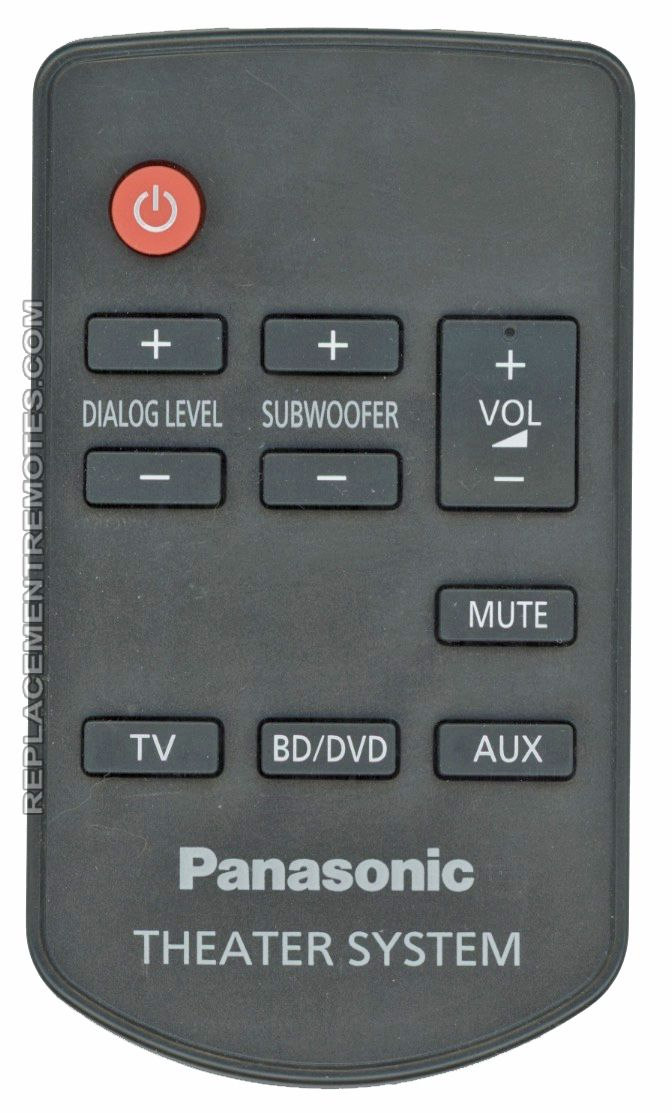 Panasonic N2QAYC000064 Home Theater System Remote Control