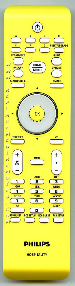 PHILIPS 22AV8573 MASTER SETUP Commercial TV Remote Control