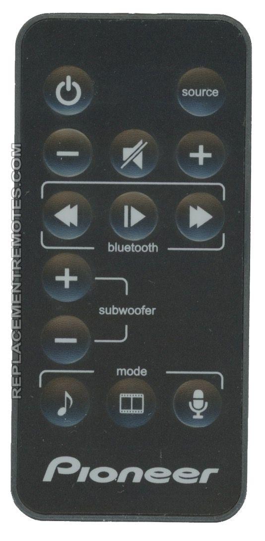PIONEER 47466.112.SPSB23 Sound Bar System Remote Control