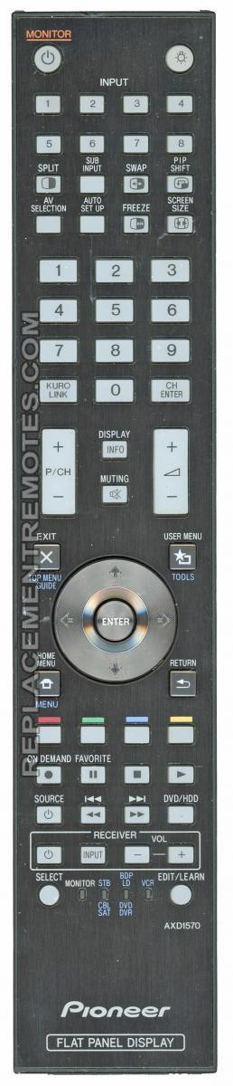 PIONEER AXD1570 Projector Remote Control