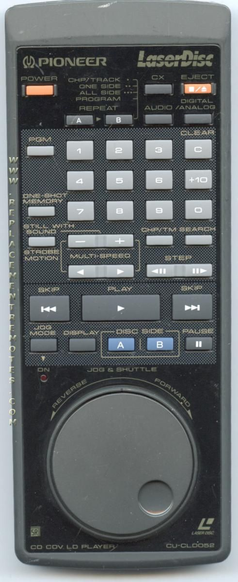 PIONEER CUCLD052 Laser Disc Player Remote Control