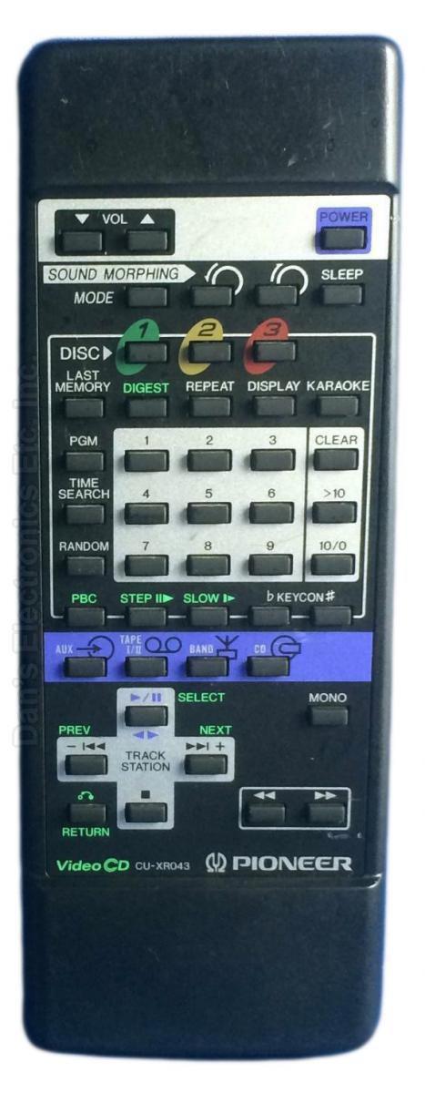 PIONEER CUXR043 Audio System Remote Control