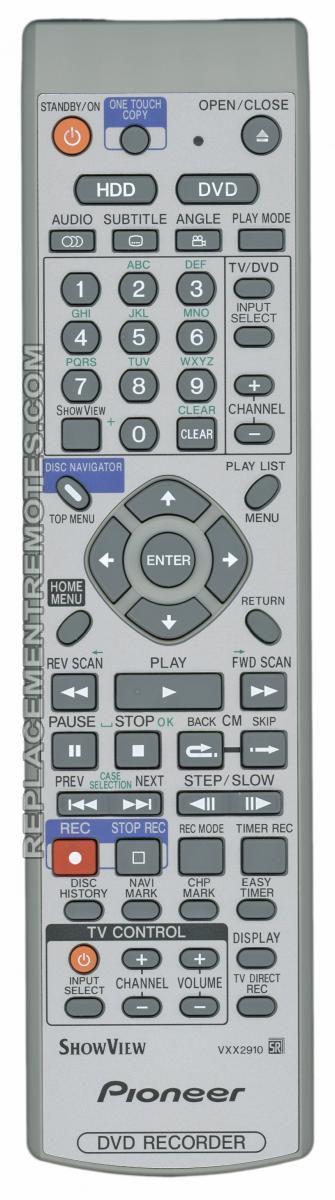 buy pioneer vxx2910 dvd recorder dvdr remote control rh replacementremotes com Dish ViP722 DVR Manual Honeywell DVR Manual