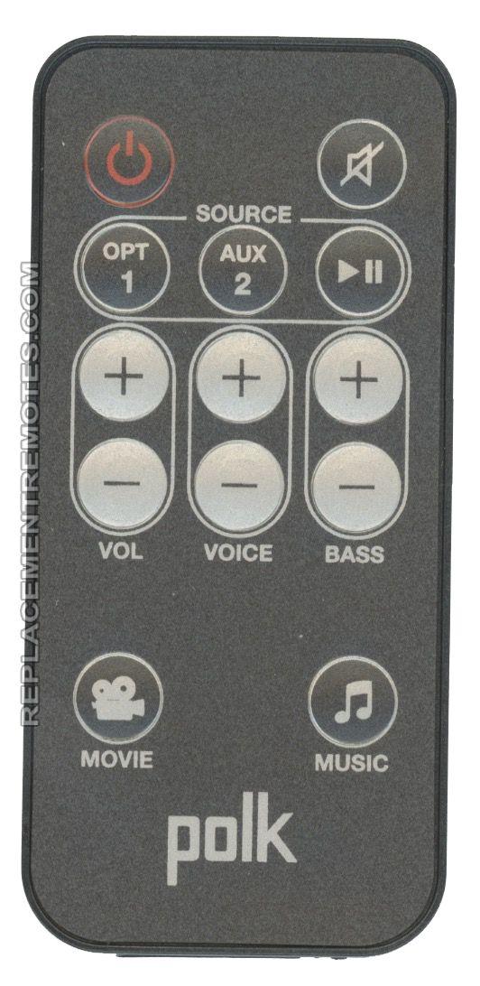 polkaudio RE69151 Sound Bar System Remote Control