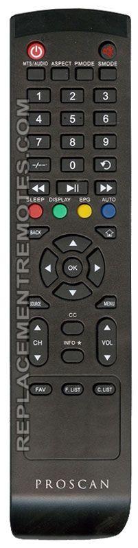 Proscan 2PRK TV Remote Control