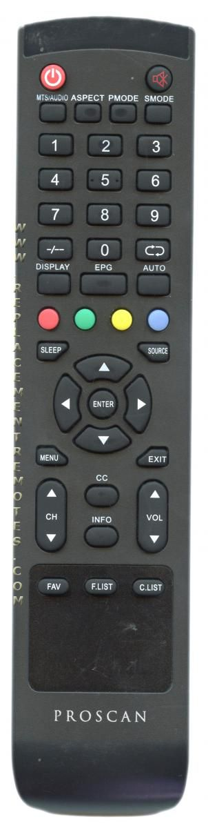 Proscan PLDED3273AB TV Remote Control