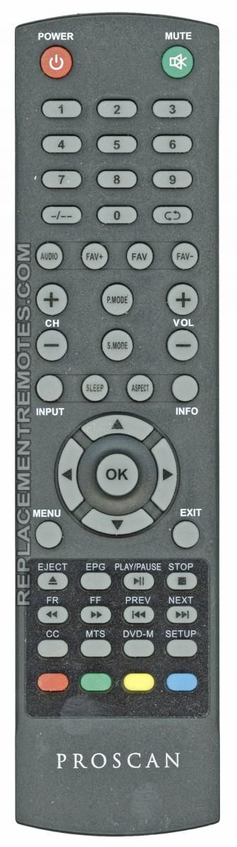 Proscan RCPLDED001 TV/DVD Combo Remote Control