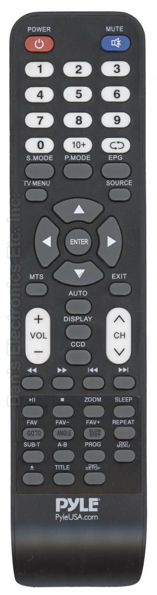 PYLE PTVDED001 TV/DVD Combo Remote Control