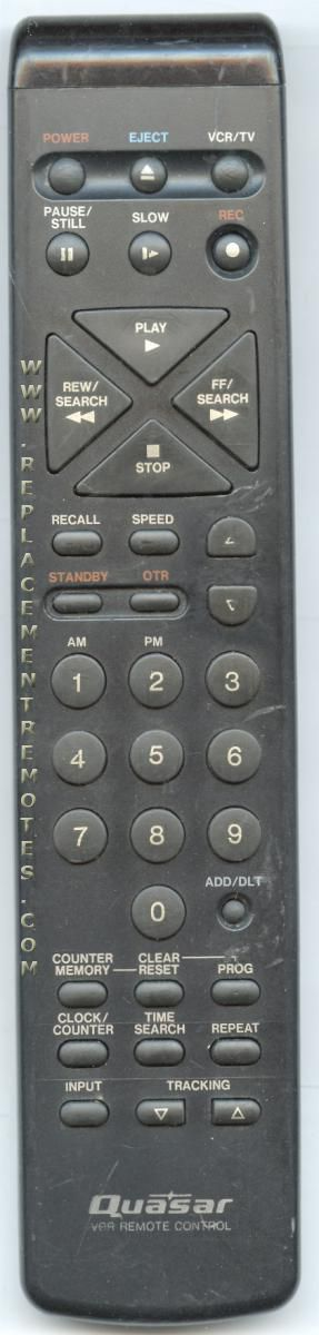 Quasar VSQS1015 VCR Remote Control