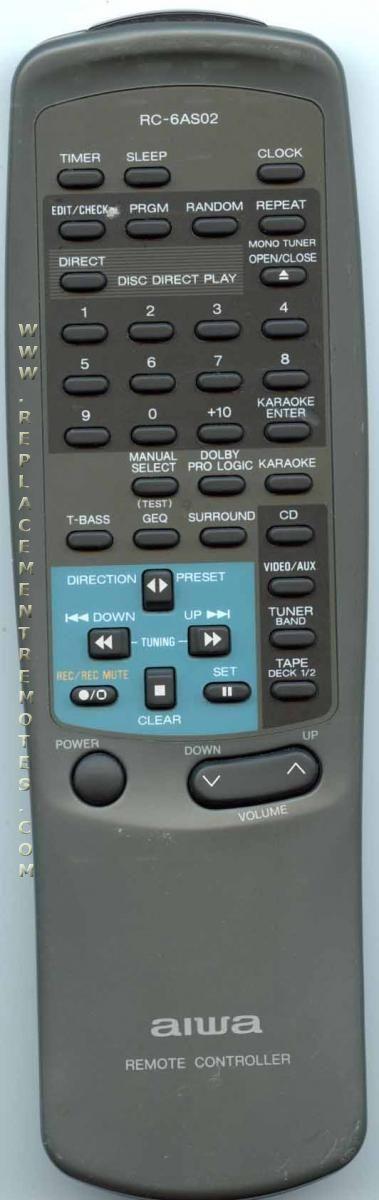 AIWA RC6AS02 Audio System Remote Control