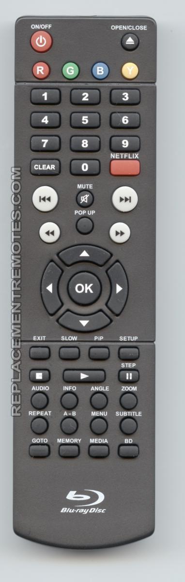 RCA BRC11082E Blu-Ray DVD Player Remote Control