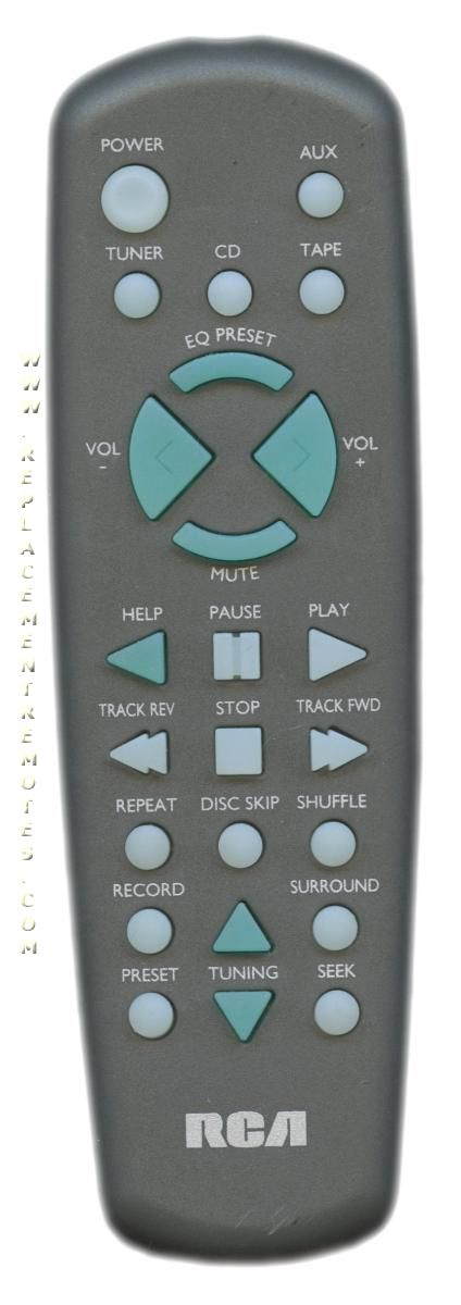 RCA CRK291 Audio System Remote Control