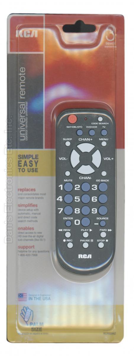 RCA RCR503BR/RCR503BZ 3-Device Universal Remote Control