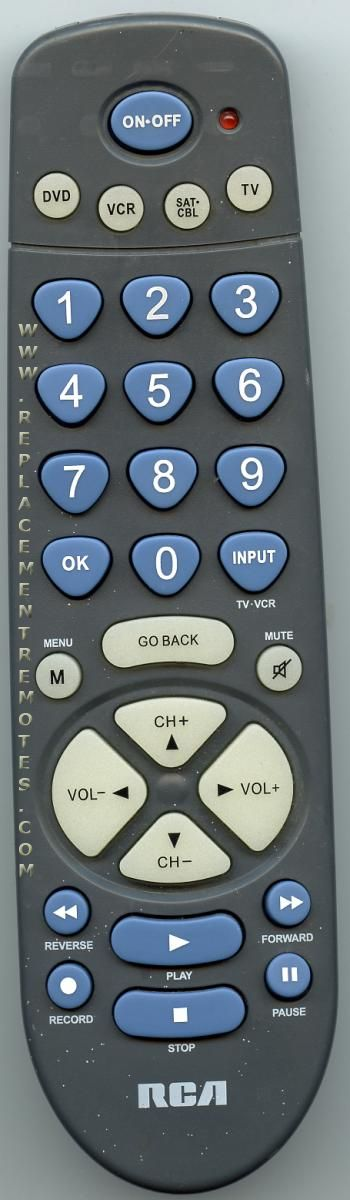 buy rca rcr450 4 device universal remote control rh replacementremotes com