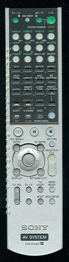 Buy Sony Rm Pg412 Rmpg412 147779411 Remote Control
