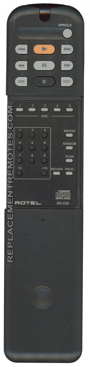 Buy Rotel Rr D92 Rrd92 Cd Player Remote Control