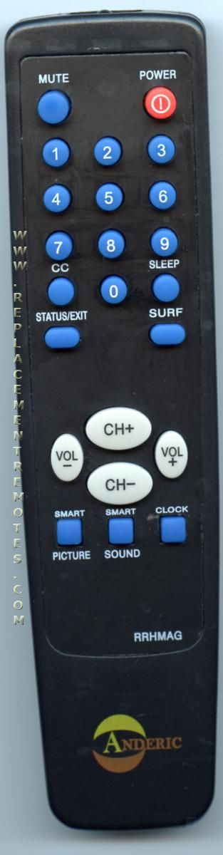 Anderic-Hospitality Simple Remote Control for Philips TV Remote Control