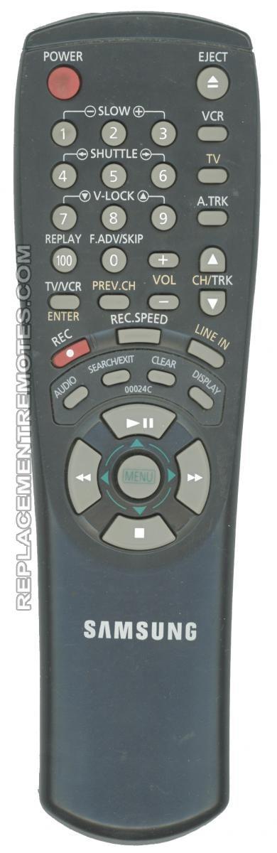 SAMSUNG 00024C VCR Remote Control
