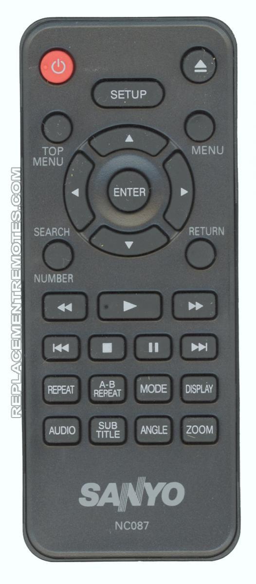 SANYO NC087 DVD Player Remote Control