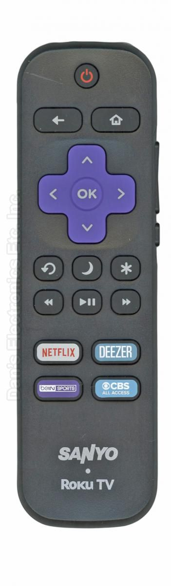 SANYO 06518W21SA01XS ROKU TV Remote Control