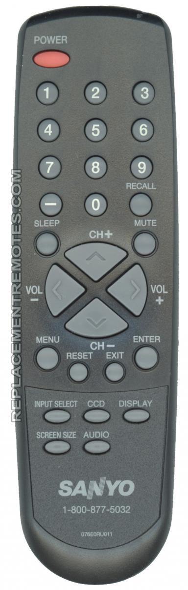 SANYO 076E0RU011 TV Remote Control