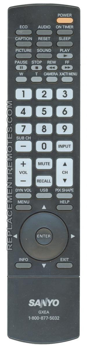 SANYO GXEA TV Remote Control