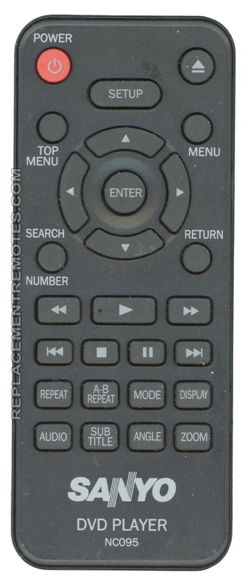 SANYO NC095 DVD Player Remote Control