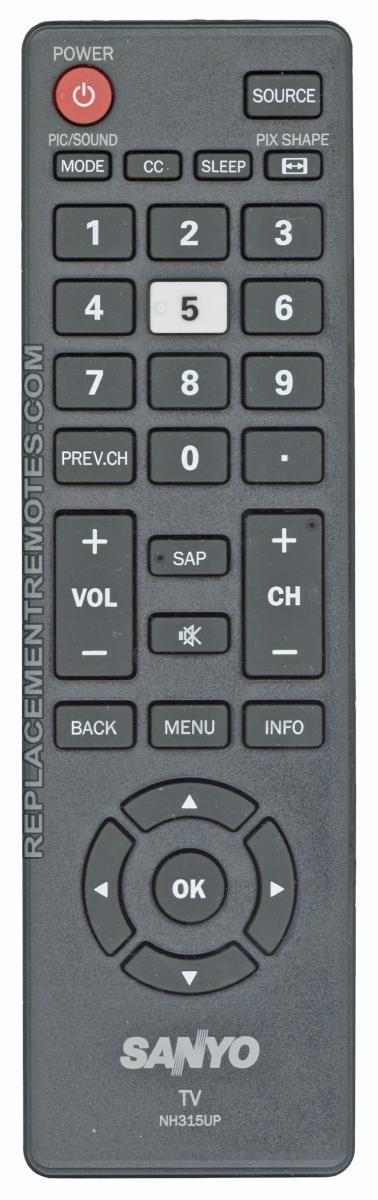 SANYO NH315UP TV Remote Control