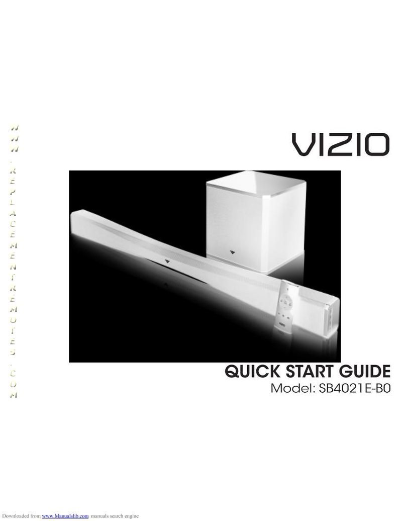VIZIO SB4021EB0OM Operating Manual