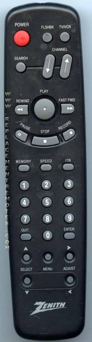ZENITH SC210502 VCR Remote Control