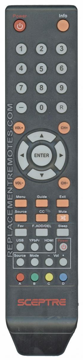 Buy Sceptre 8142026670003c X322bvrem Tv Remote Control