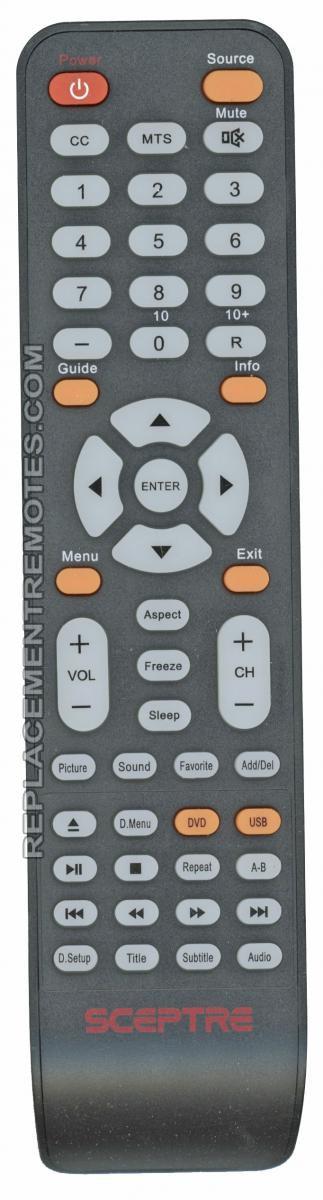 Sceptre X32TVDVD TV/DVD Combo Remote Control