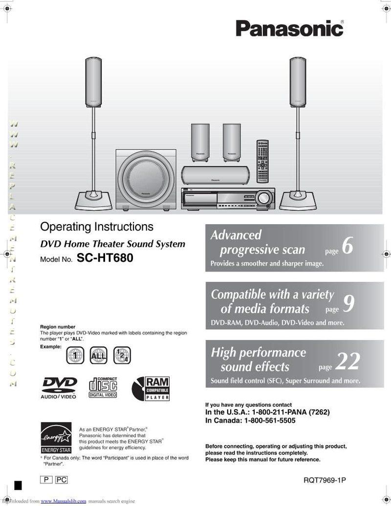 Panasonic SAHT680OM Operating Manual