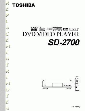 TOSHIBA SD2700OM Operating Manual