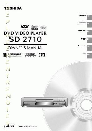 TOSHIBA SD2710OM Operating Manual