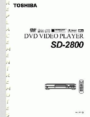 TOSHIBA SD2800OM Operating Manual